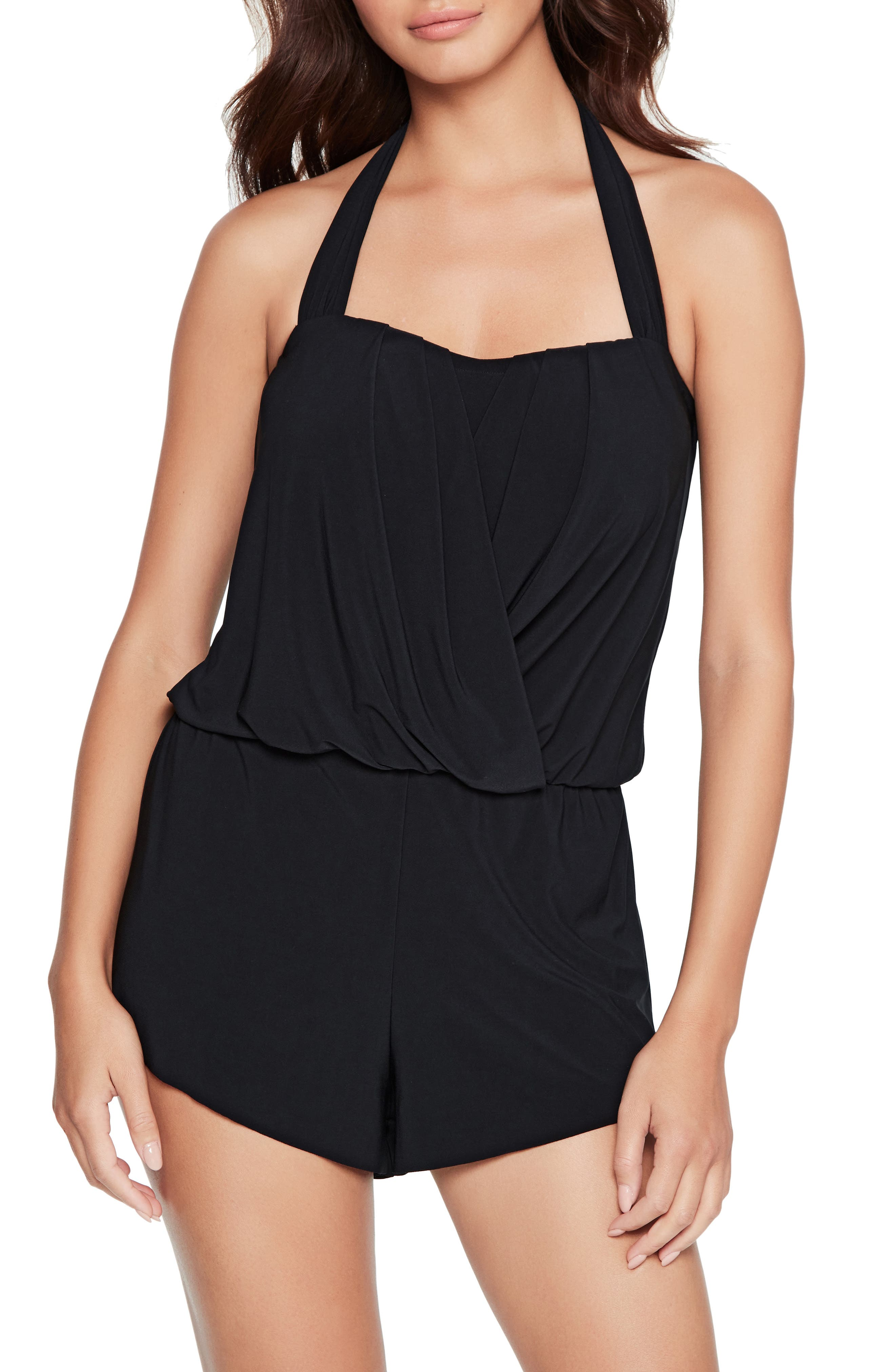 Women's Magicsuit Brooke Solid One-Piece Romper Swimsuit