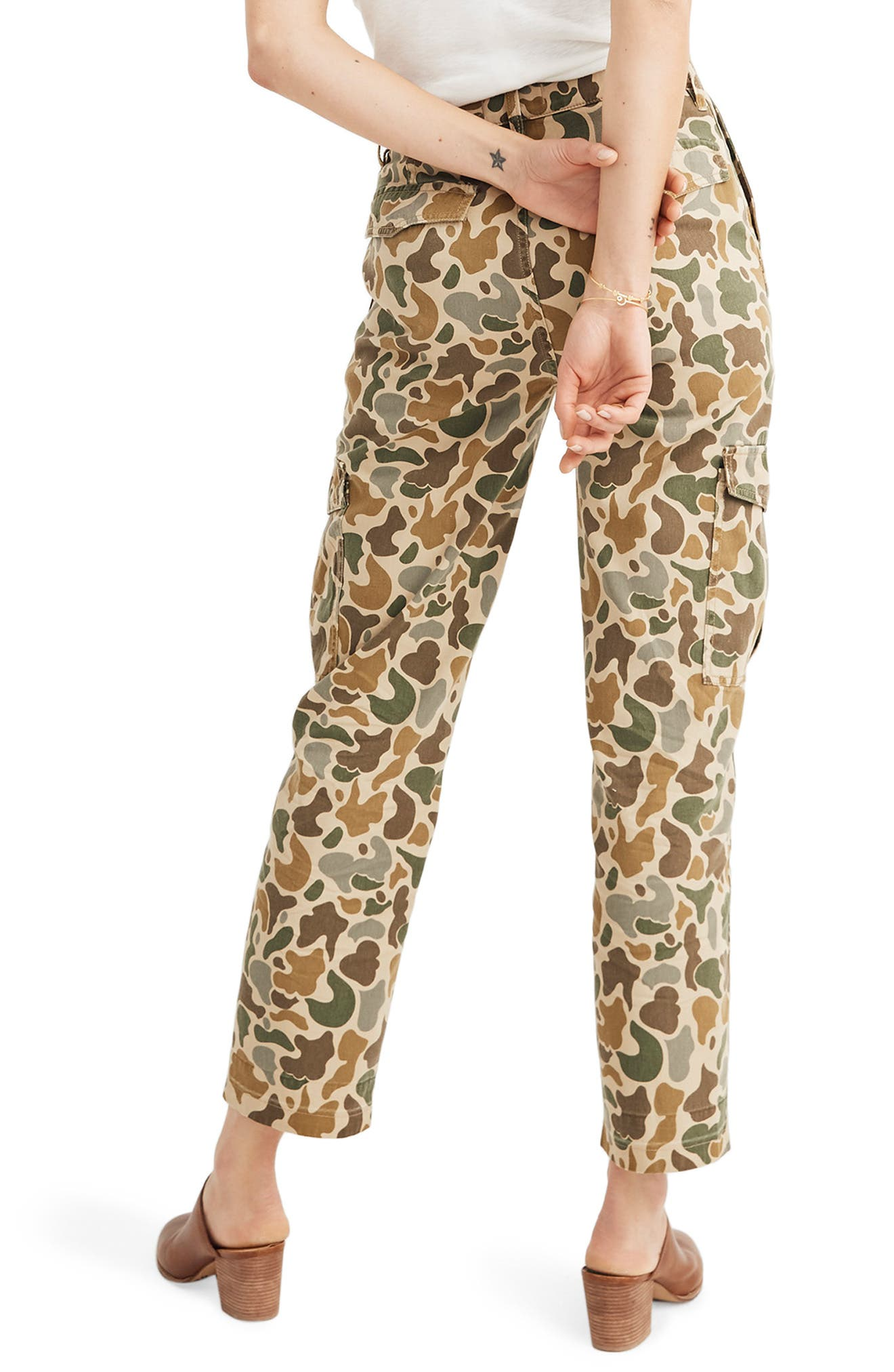 ,                             High Waist Camo Cargo Pants,                             Alternate thumbnail 2, color,                             VINTAGE CAMO