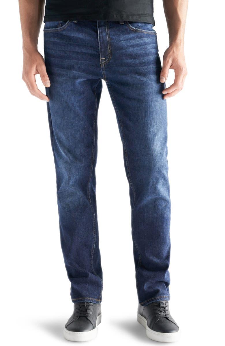 DEVIL-DOG DUNGAREES Slim-Straight Fit Performance Stretch Jeans, Main, color, WARREN
