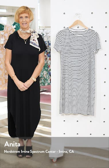 Stripe Organic Linen Shift Dress, sales video thumbnail