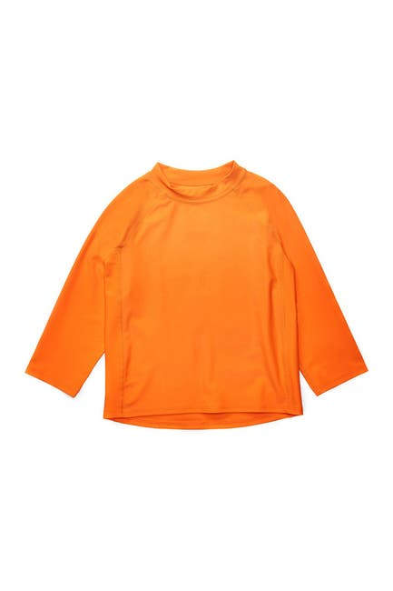 Image of Leveret Long Sleeve UPF +50 Rash Guard - Orange