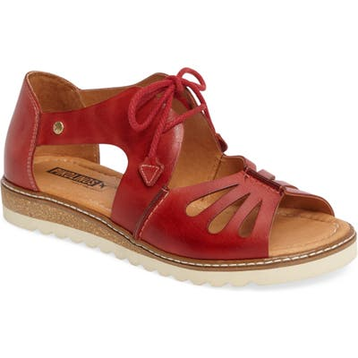 Pikolinos Alcudia Lace-Up Sandal, Red
