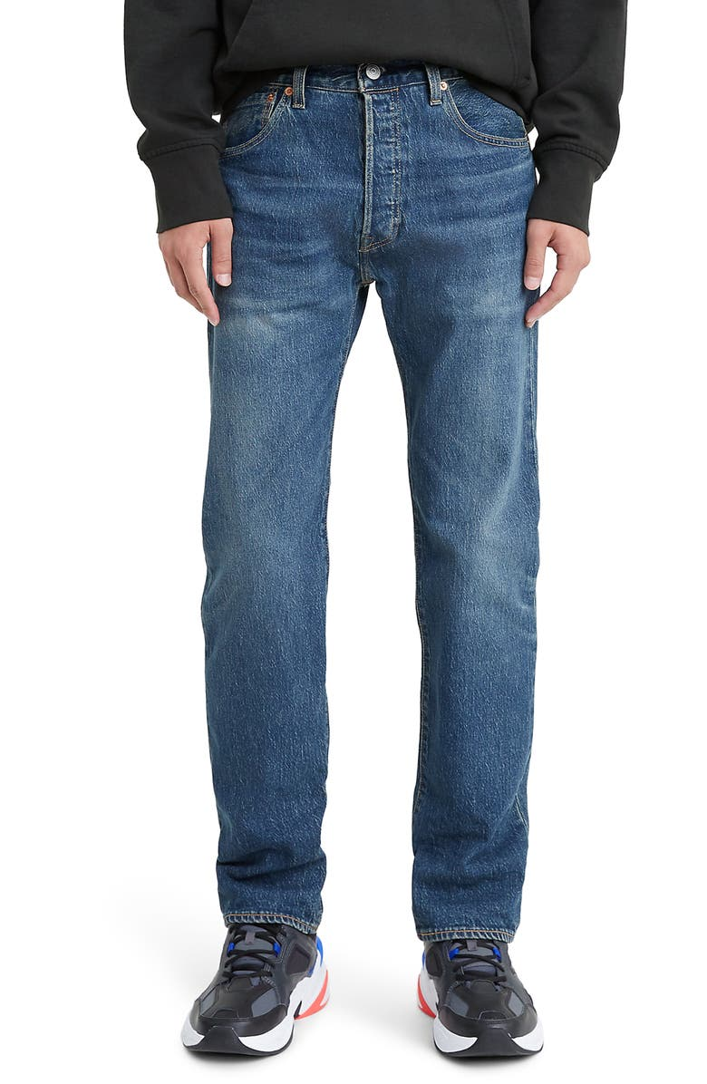 LEVI'S<SUP>®</SUP> 501<sup>®</sup> '93 Straight Leg Jeans, Main, color, BLEU EYES BABY