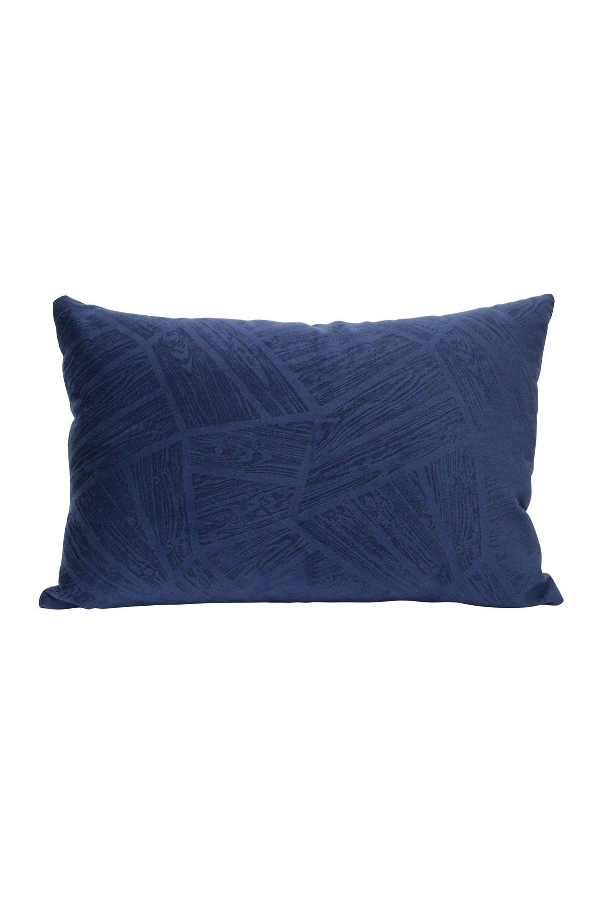 Image of Stratton Home Regal Blue Velvet Lumbar Pillow