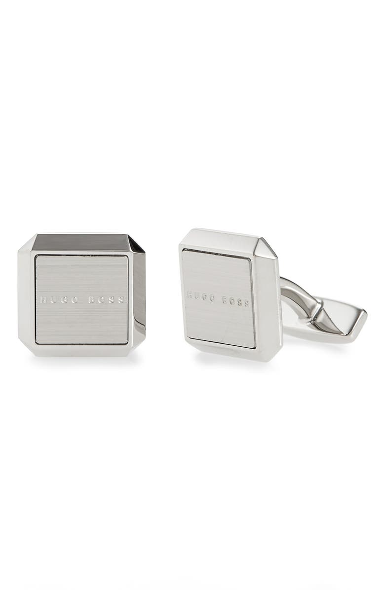 BOSS Jamis Cuff Links, Main, color, SILVER