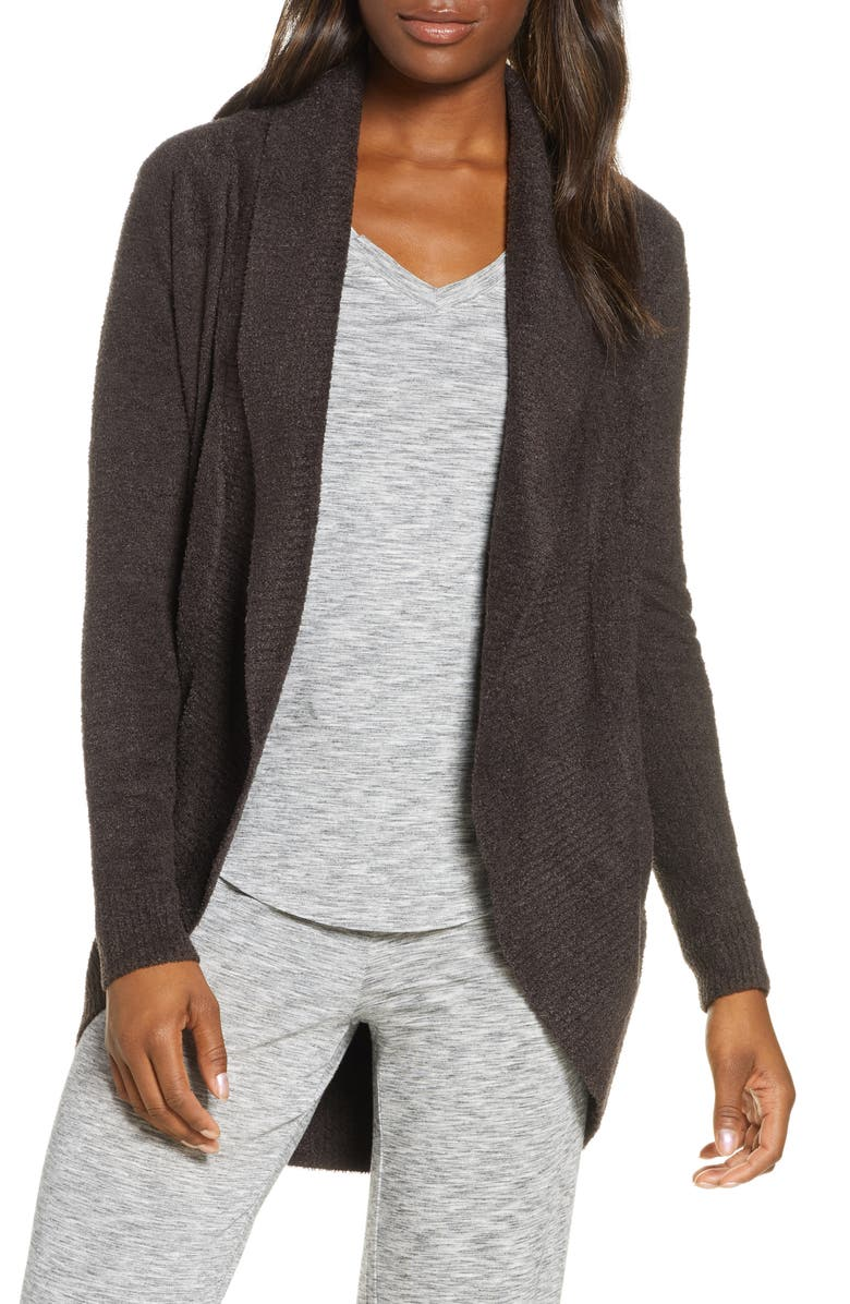 BAREFOOT DREAMS<SUP>®</SUP> CozyChic Lite<sup>®</sup> Circle Cardigan, Main, color, ESPRESSO