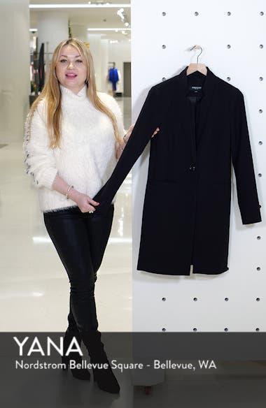 Inverted Collar Ponte Coat, sales video thumbnail