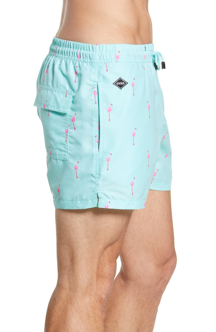 908f3f3188 NIKBEN Flamingo Vice Swim Trunks | Nordstrom
