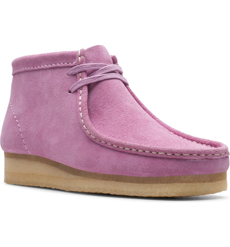 CLARKS<SUP>®</SUP> ORIGINALS Wallabee Chukka Boot, Main, color, LAVENDER SUEDE