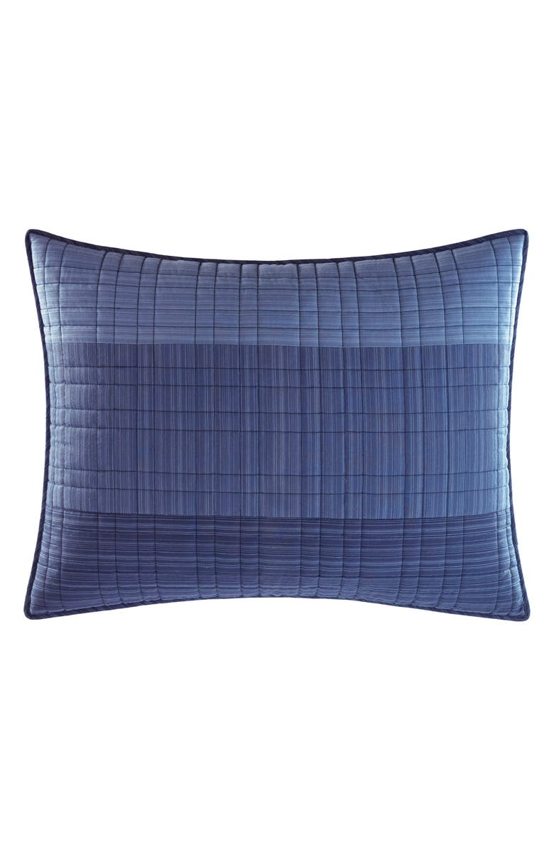 NAUTICA Riverview Quilted Sham, Main, color, BLUE