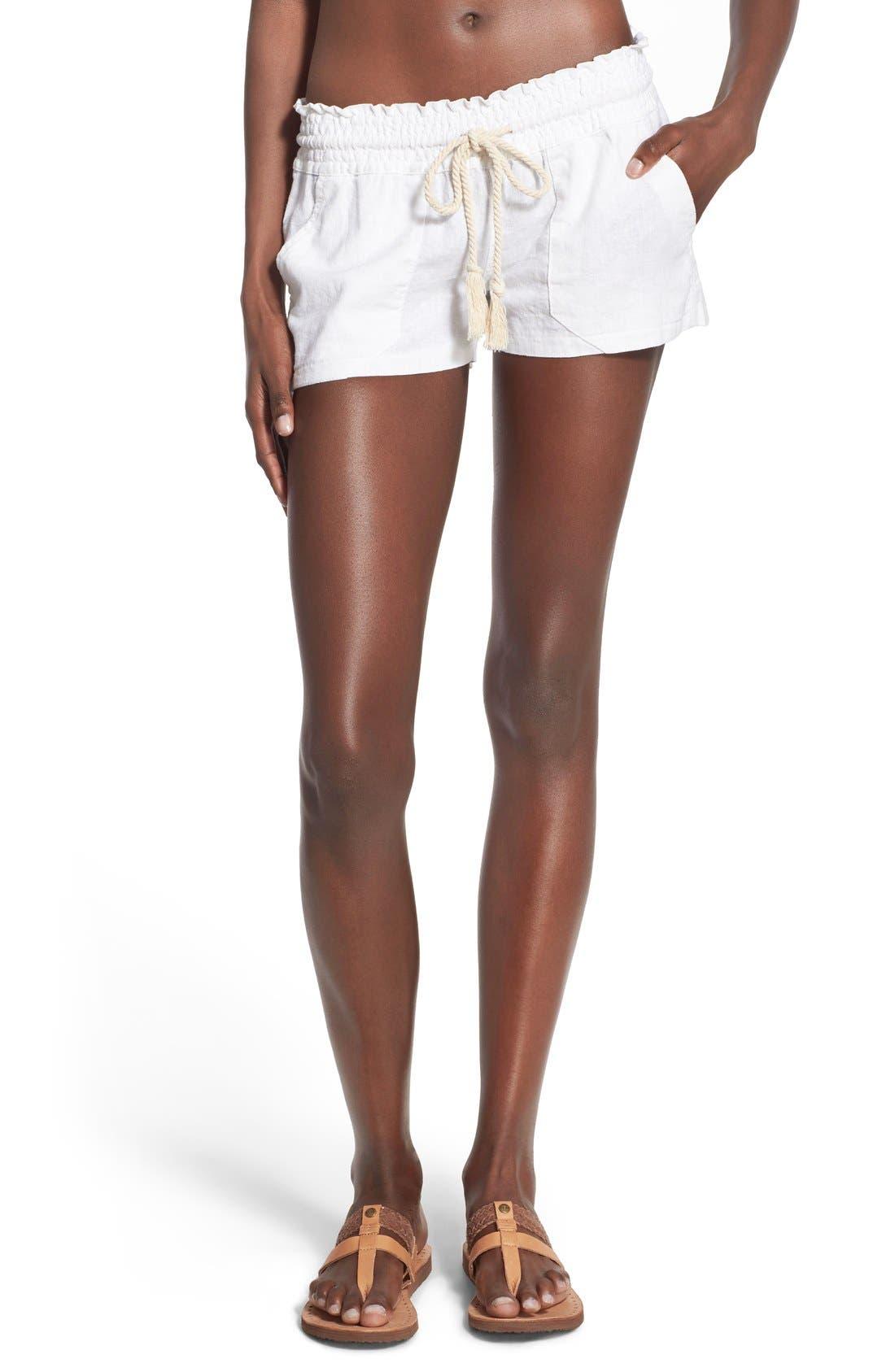 ,                             'Oceanside' Linen Blend Shorts,                             Main thumbnail 21, color,                             101
