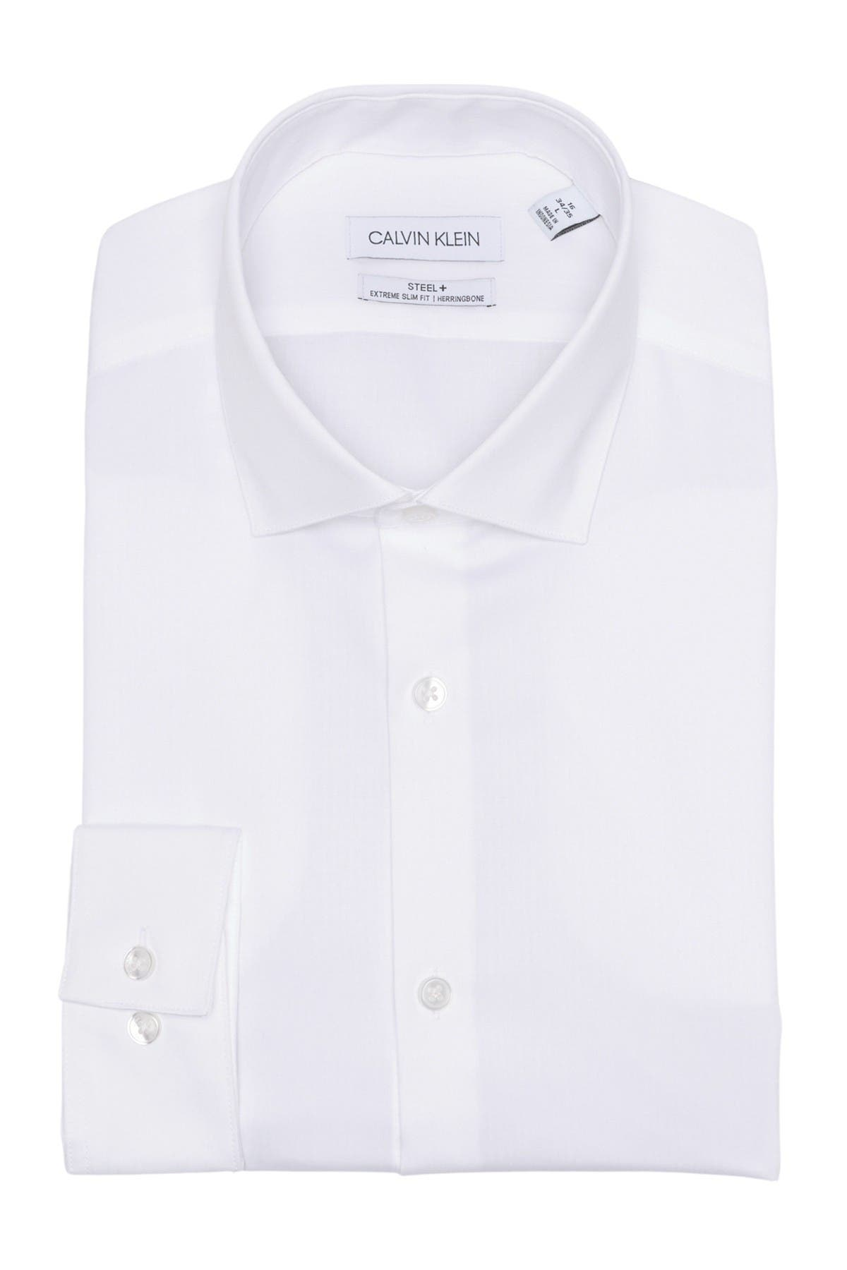 Image of Calvin Klein Steel Extreme Slim Fit Dress Shirt