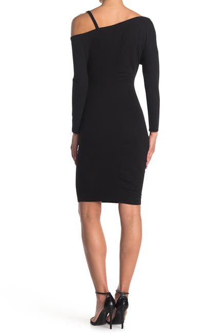 Image of MAX & ASH Single Strap Long Sleeve Midi Dress