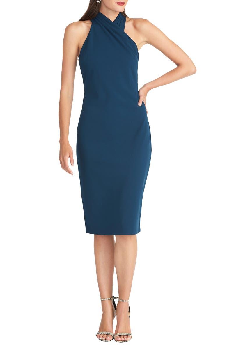 RACHEL RACHEL ROY Harland Halter Dress, Main, color, BLUE JUNIPER