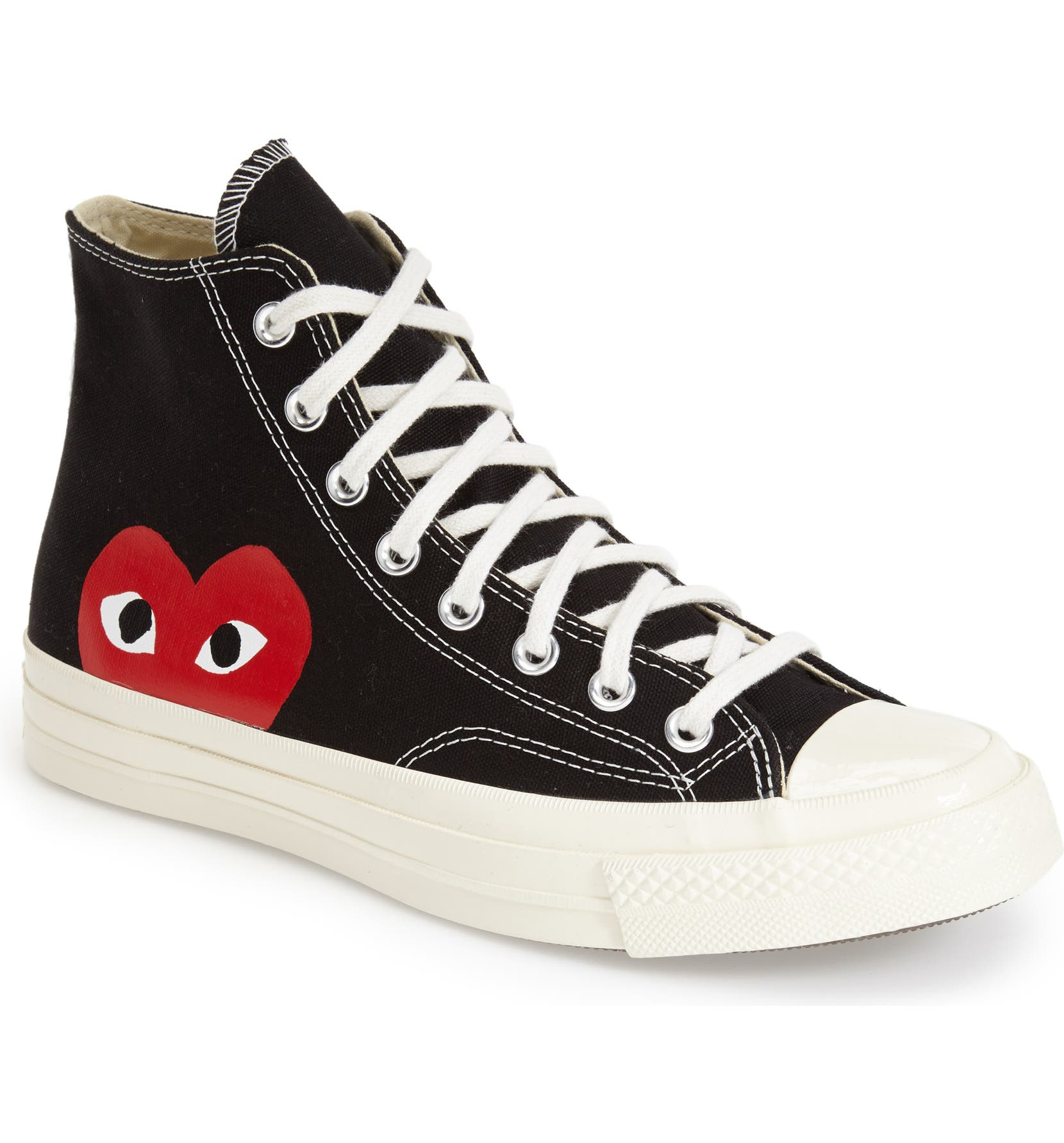 1b36597bf Comme des Garçons PLAY x Converse Chuck Taylor® Hidden Heart High Top  Sneaker (Men) | Nordstrom