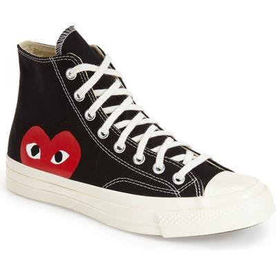 Comme Des Garcons Play X Converse Chuck Taylor Hidden Heart High Top Sneaker- Black