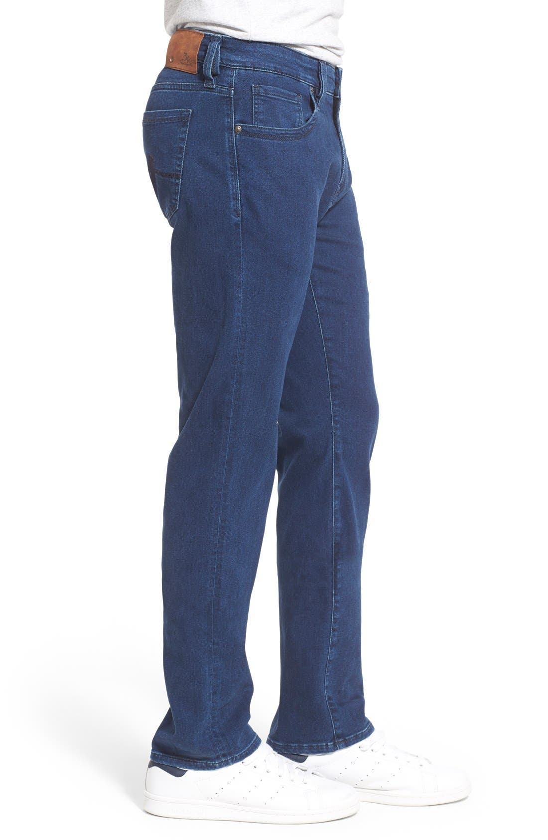 ,                             'Courage' Straight Leg Jeans,                             Alternate thumbnail 3, color,                             MIDNIGHT LIGHT DENIM