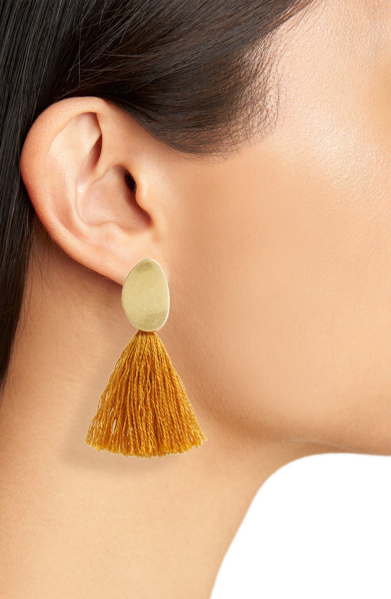 ,                             Curved Tassel Earrings,                             Alternate thumbnail 17, color,                             710