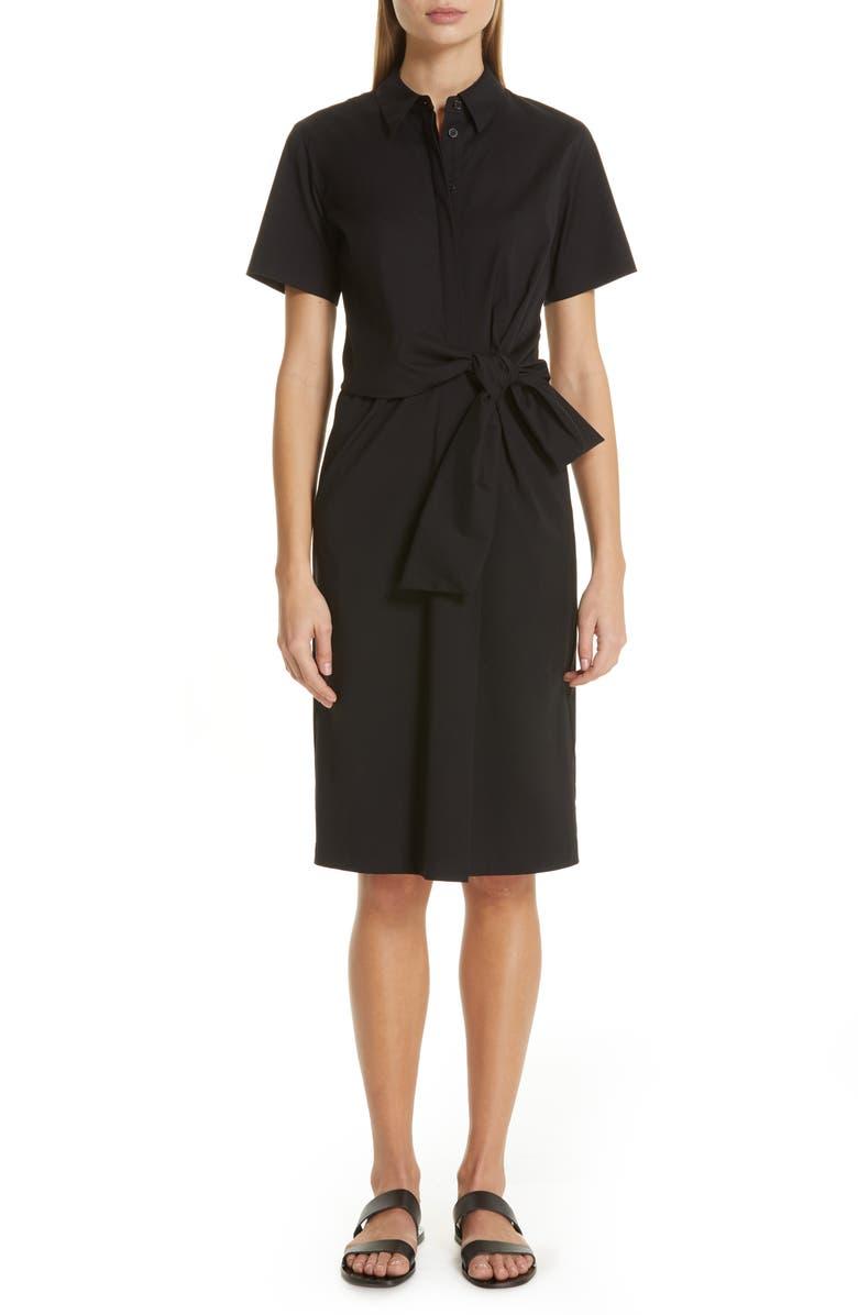 LAFAYETTE 148 NEW YORK Zariah Shirtdress, Main, color, BLACK