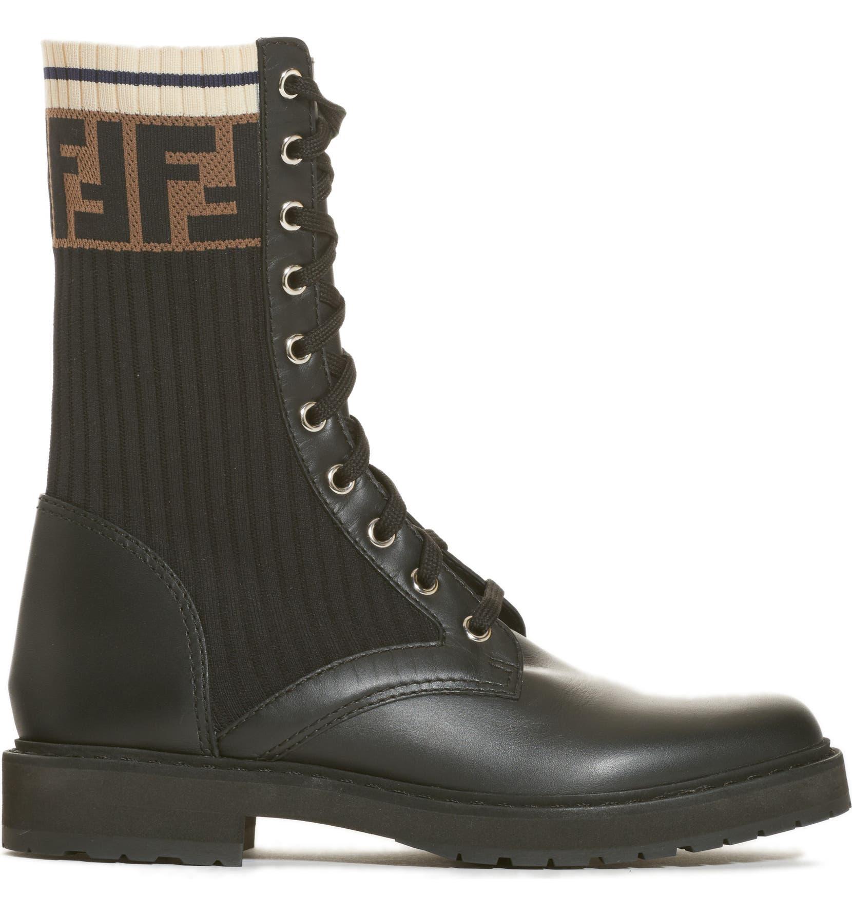 cd3eb62985762 Fendi Rockoko Chelsea Sock Combat Boot (Women) | Nordstrom
