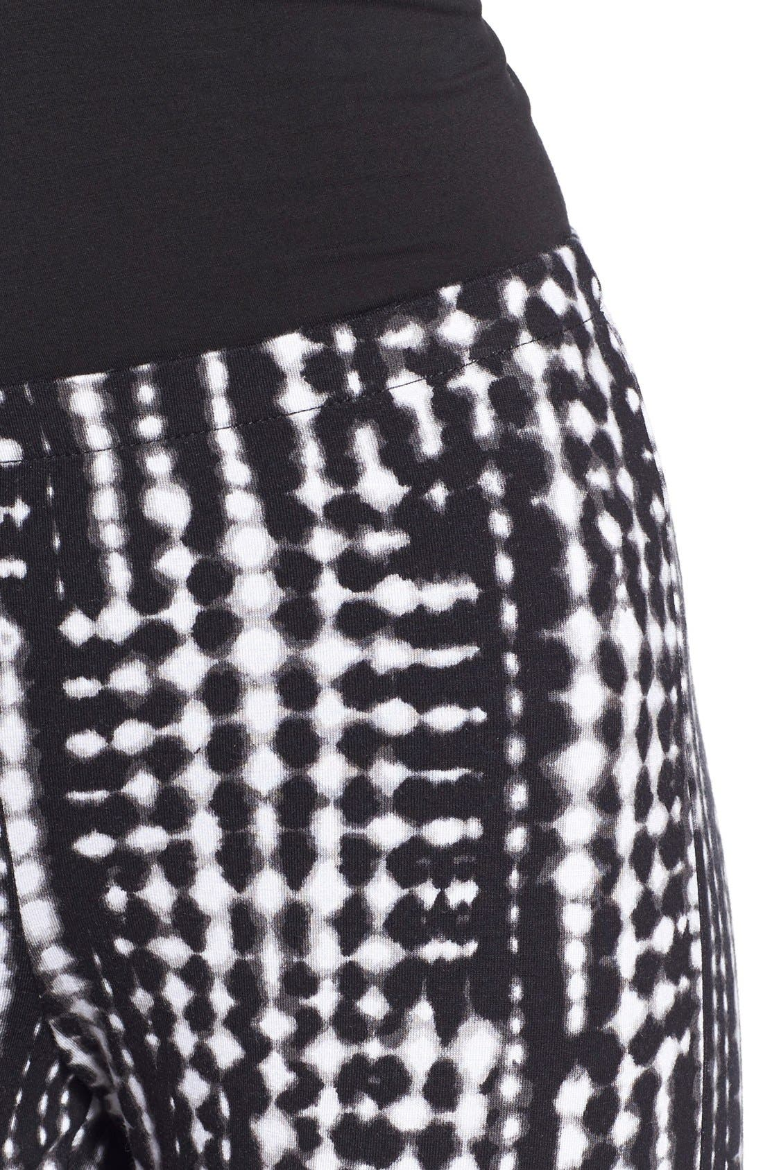 ,                             Mixed Print Flare Leg Pants,                             Alternate thumbnail 45, color,                             014