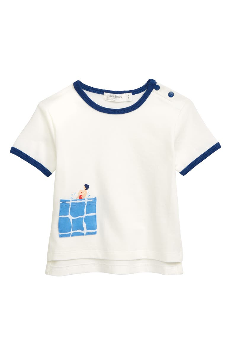 MILES BABY Fun Pocket T-Shirt, Main, color, 900