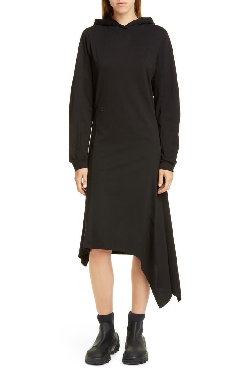 1017 ALYX 9SM Long Sleeve Hooded Knit Midi Dress, Main, color, 001