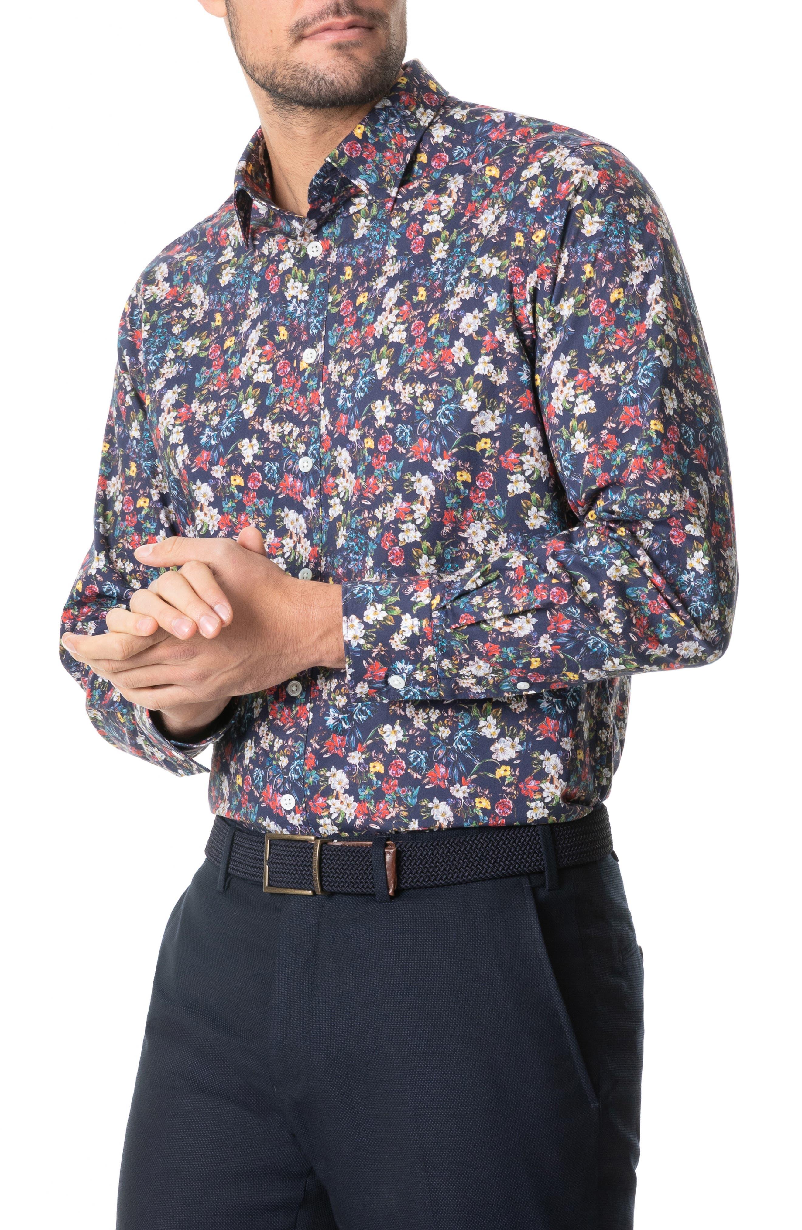 Image of RODD AND GUNN Foxton Floral Button-Up Shirt