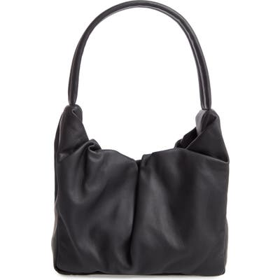 Staud Felix Leather Top Handle Bag - Black