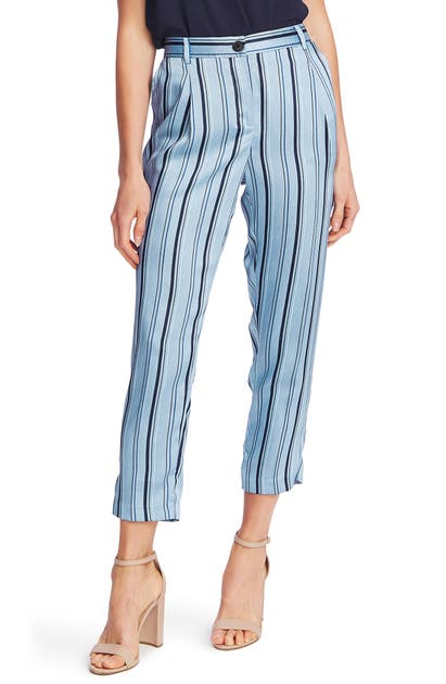 Vince Camuto Pants STRIPEY INTERLUDES SLIM CROP PANTS