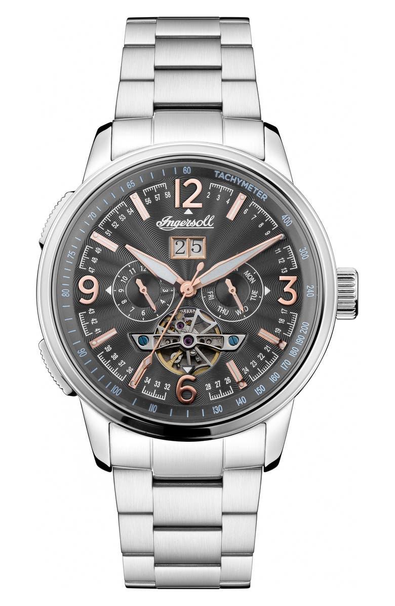 INGERSOLL Regent Automatic Bracelet Watch, 47mm, Main, color, 040