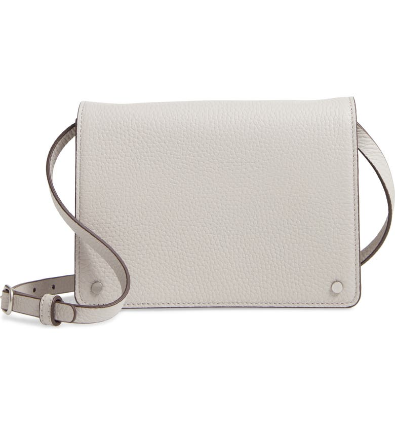 TREASURE & BOND Lex Leather Crossbody Bag, Main, color, GREY OPAL