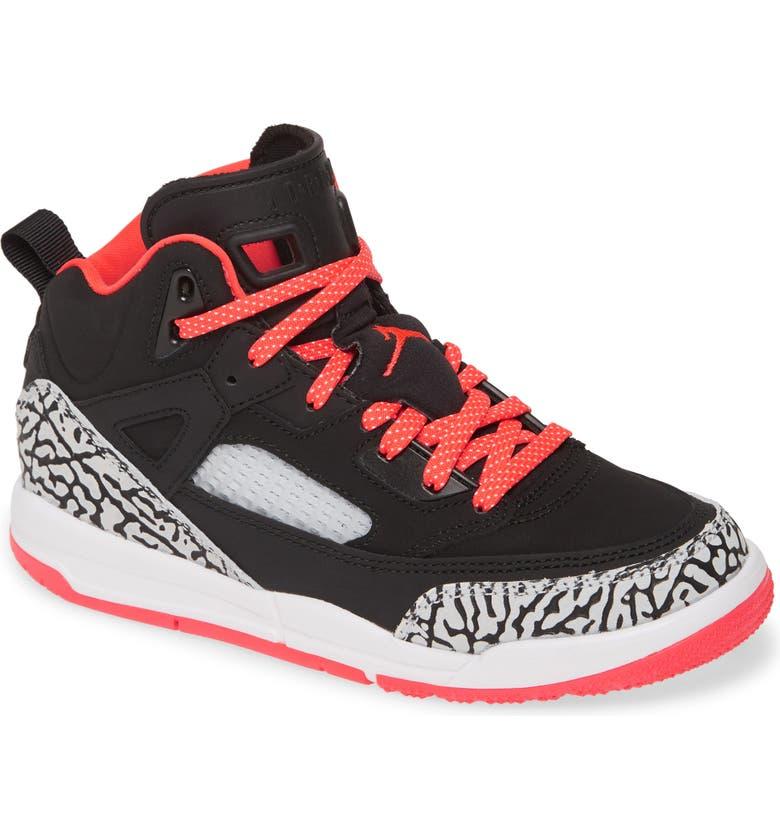 JORDAN Nike Jordan Spizike Basketball Shoe, Main, color, BLACK/ RED ORBIT