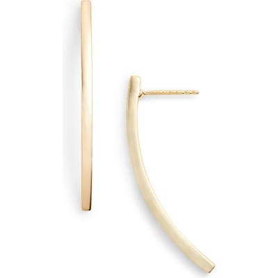 Argento Vivo Curved Bar Earrings