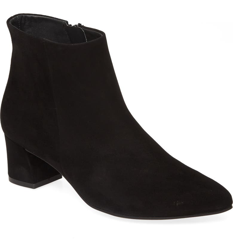 PAUL GREEN Bridget Suede Bootie, Main, color, BLACK SUEDE