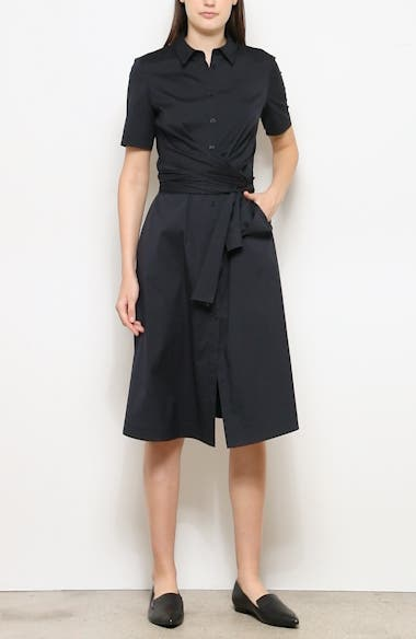 Wrenley Tie Front Shirtdress, video thumbnail