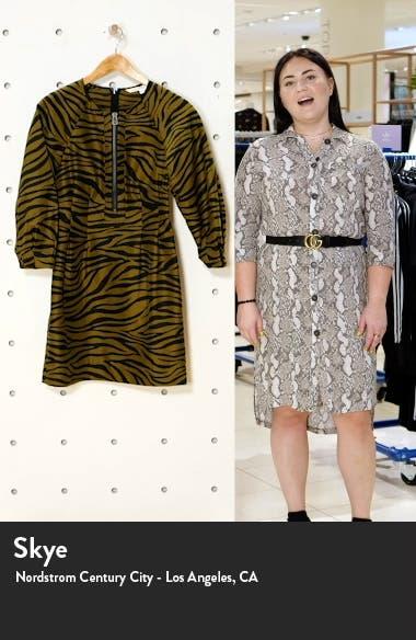 Navi Animal Stripe Long Sleeve Minidress, sales video thumbnail
