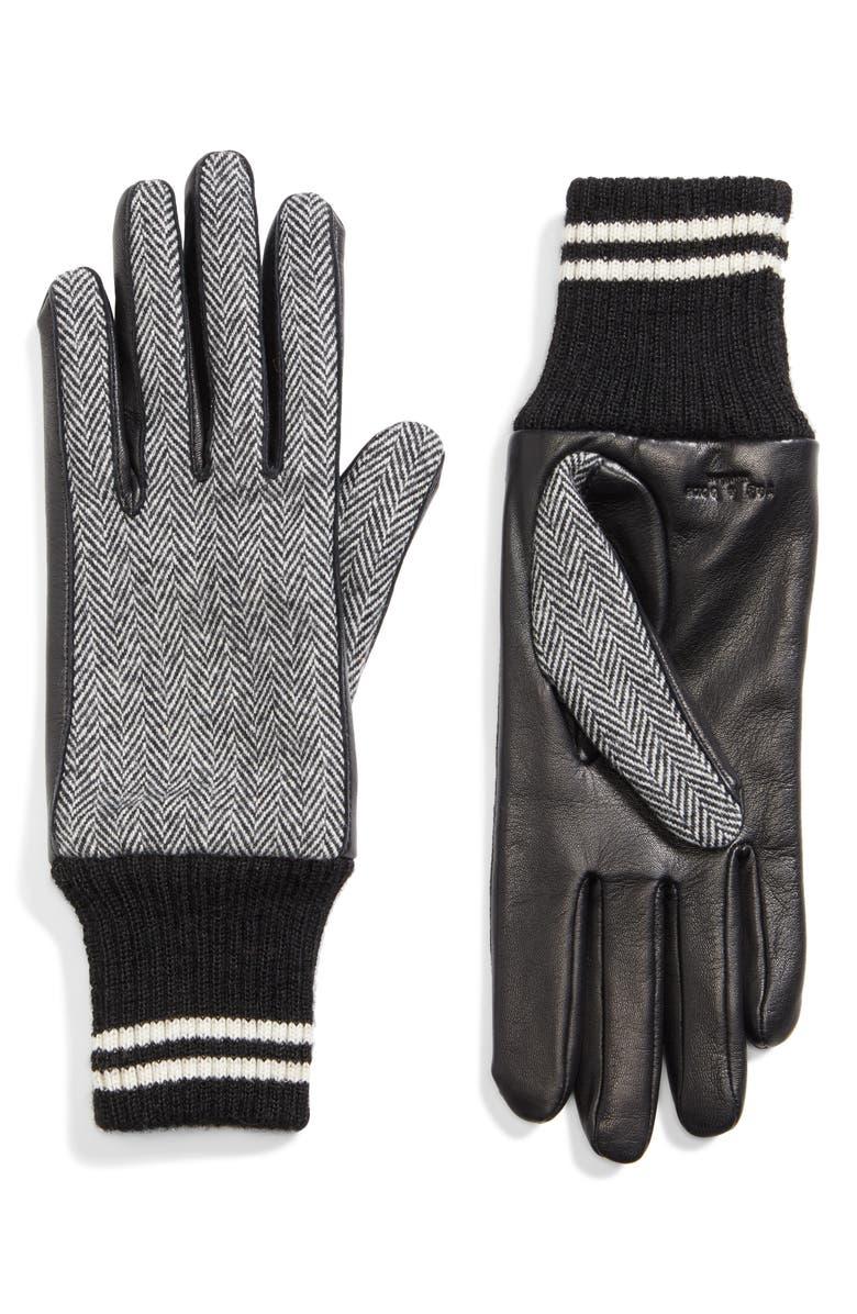 RAG & BONE Ski Gloves, Main, color, BLACK MULTI
