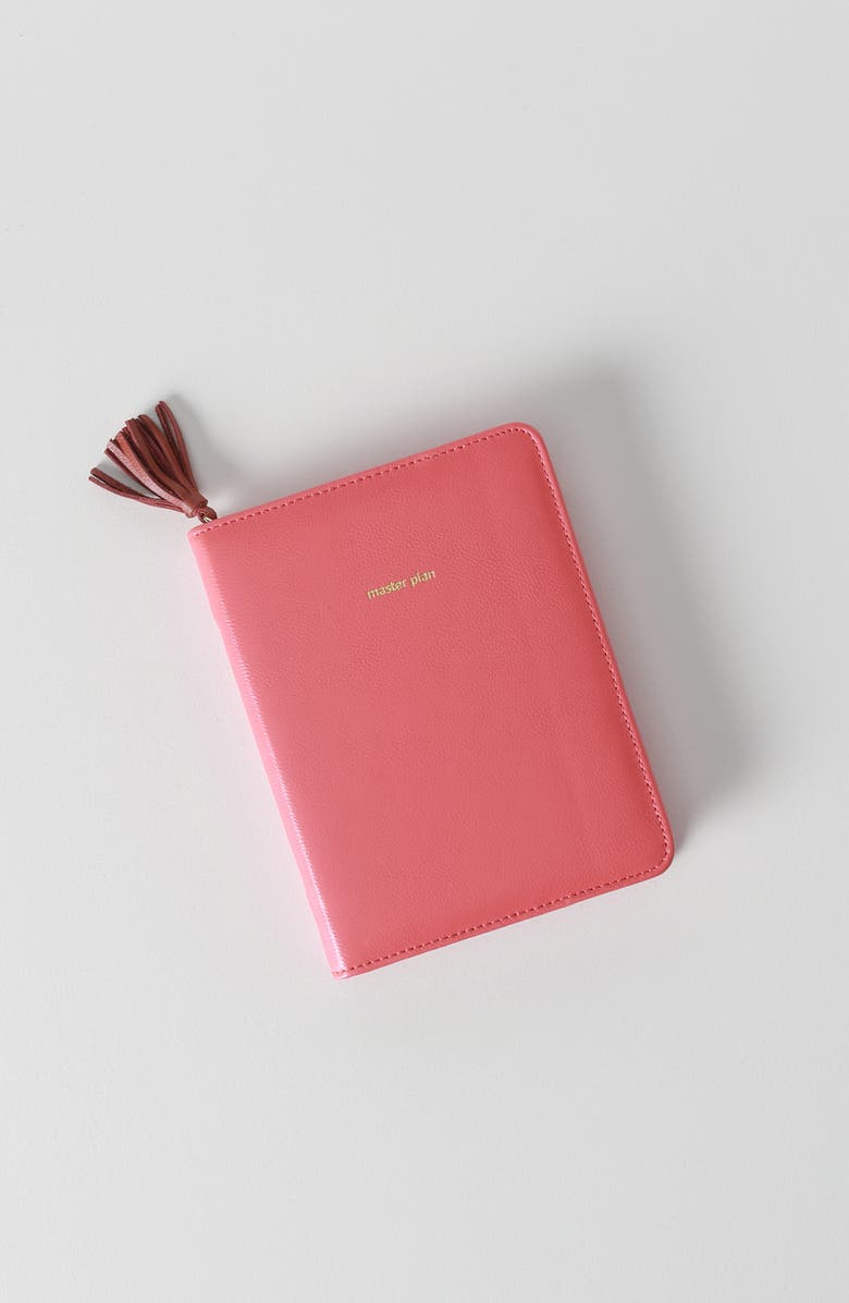 ANTHROPOLOGIE Anglophile Zip-Around Leather Journal, Main, color, RED