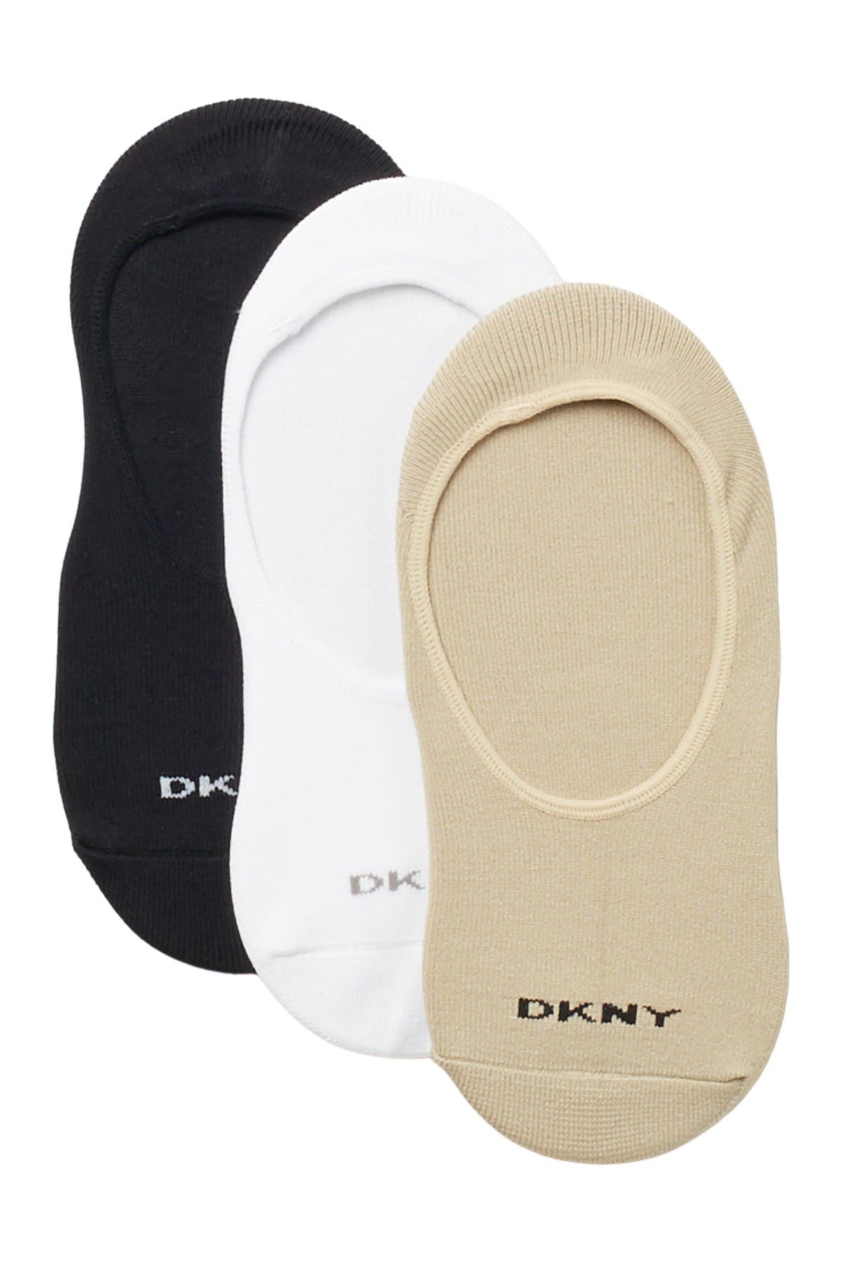 Image of DKNY Microfiber Liner Socks - Pack of 3