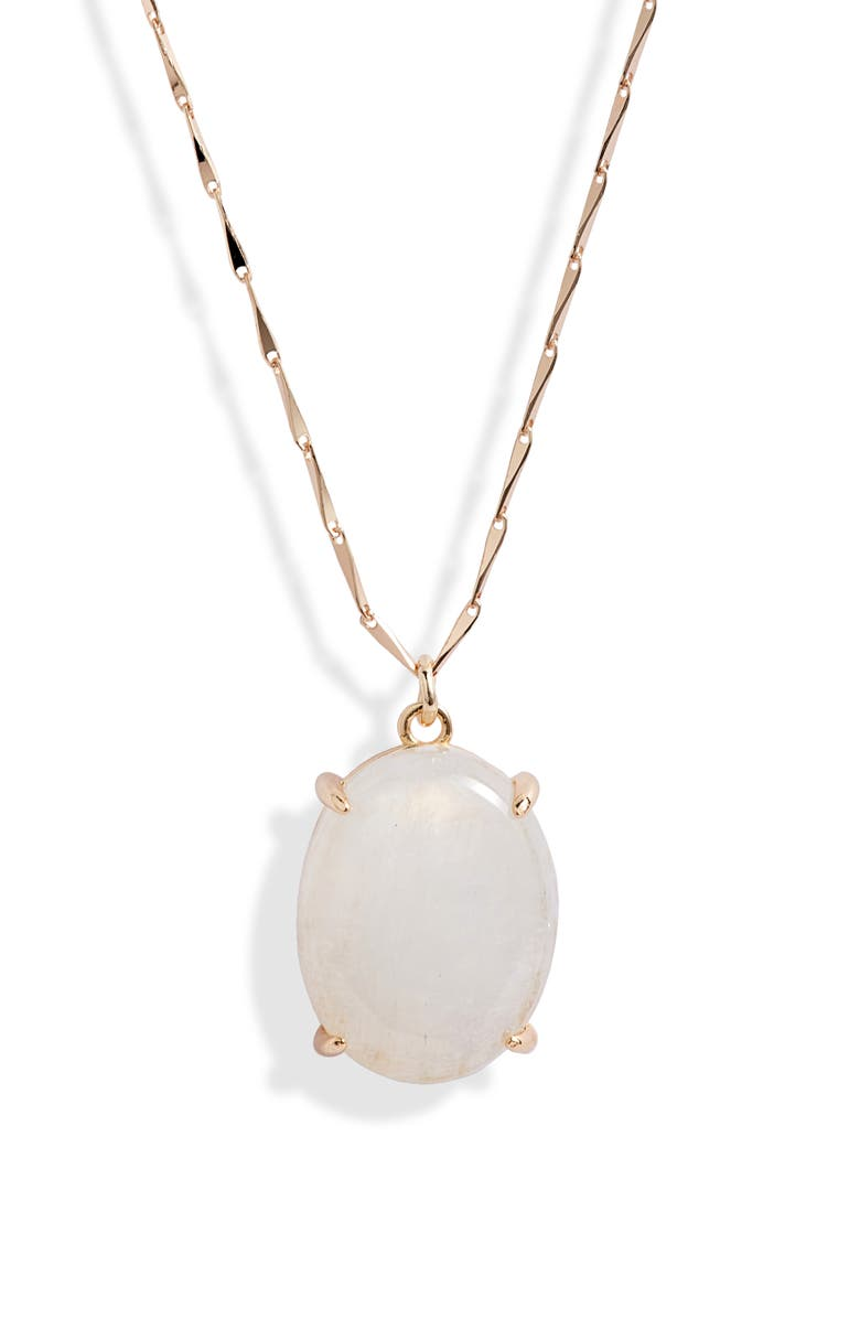 MELANIE AULD Amulet Pendant Necklace, Main, color, MOONSTONE / GOLD