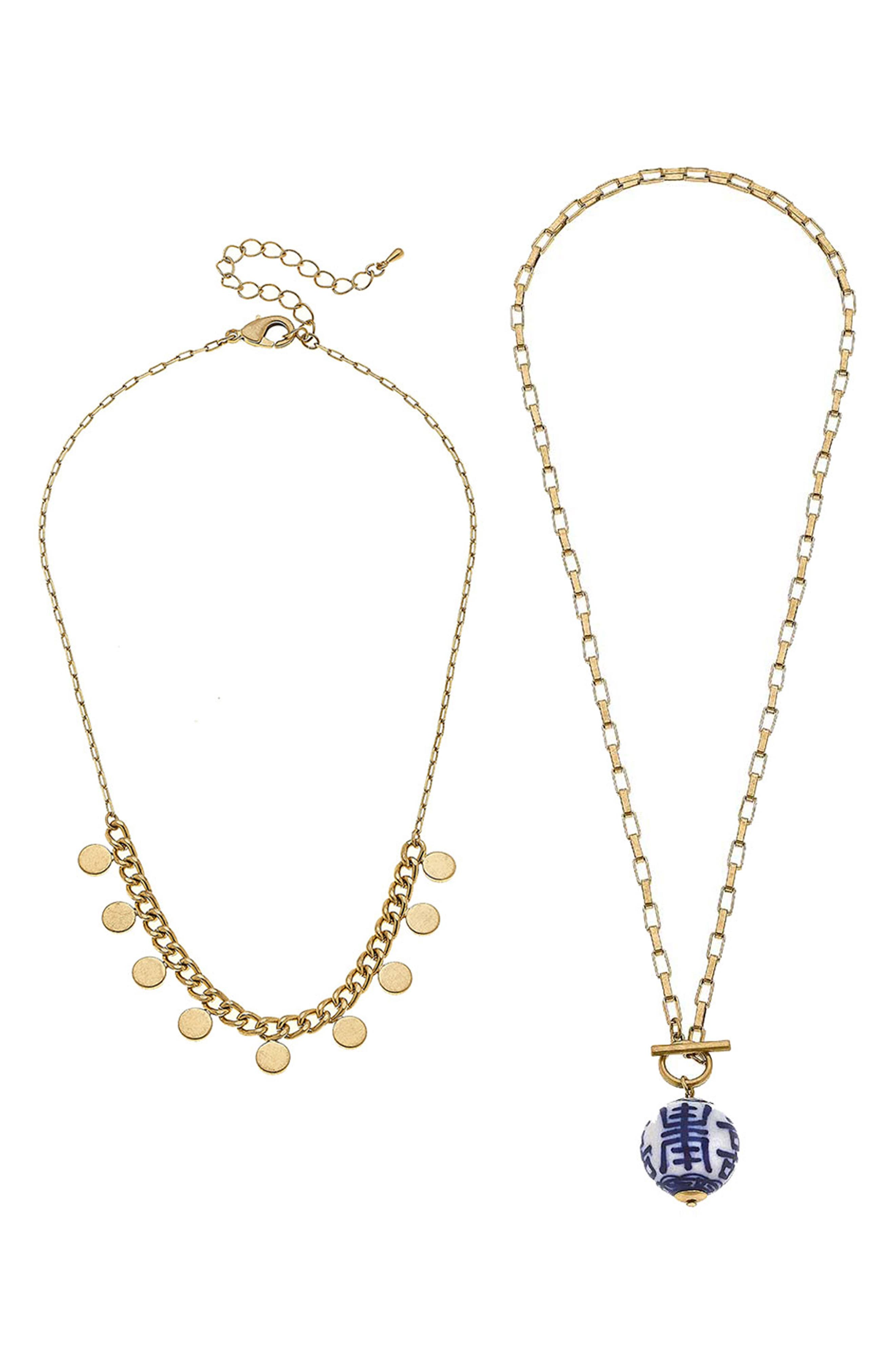 Two-Piece Chinoiserie Necklace Set