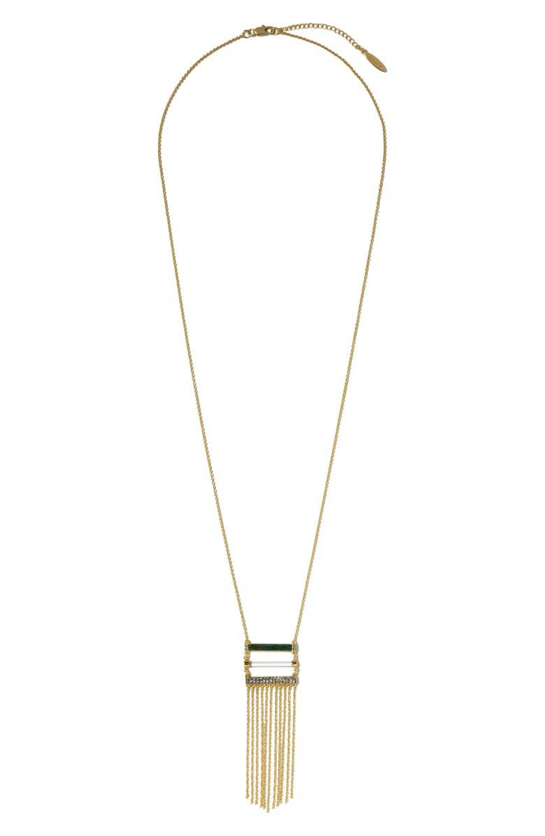 Sole Society Fringe Pendant Necklace