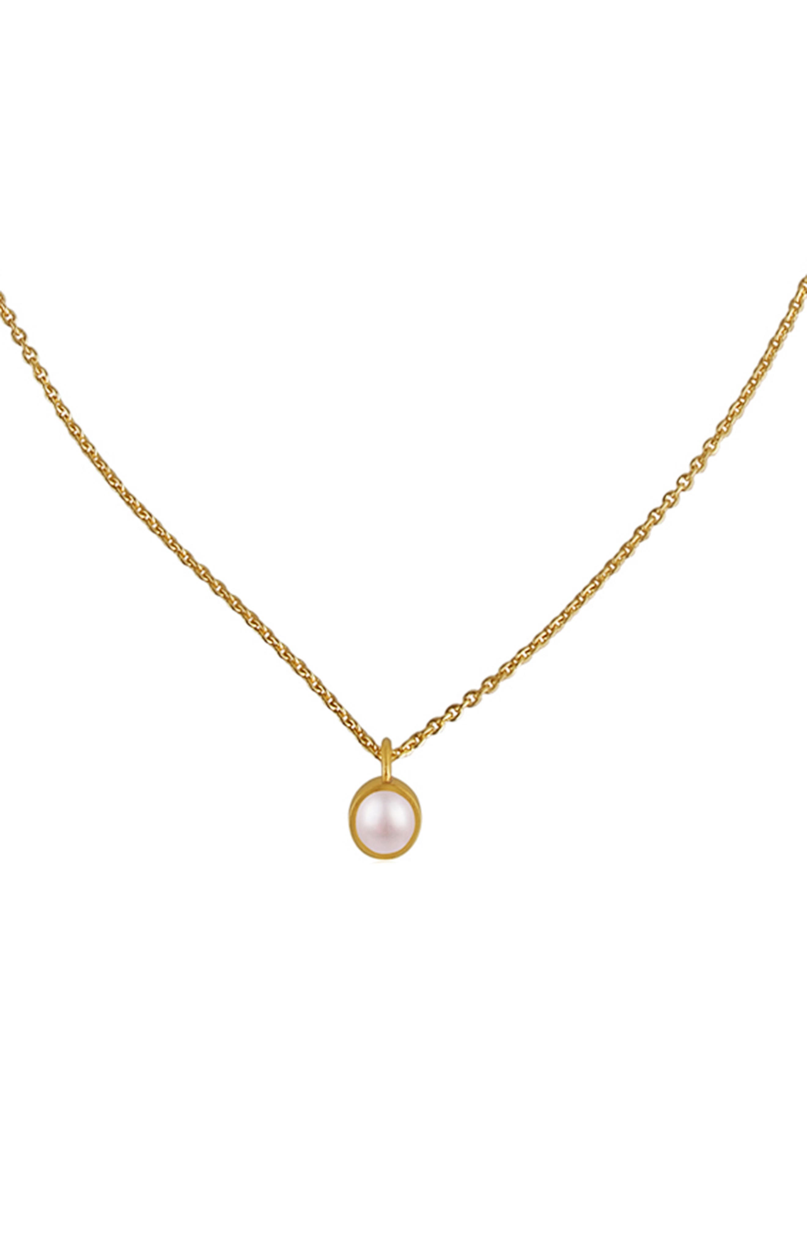 Dainty Cultured Pearl Pendant Necklace