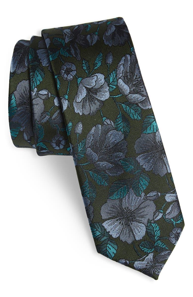 THE TIE BAR Monarch Floral Silk Tie, Main, color, 308
