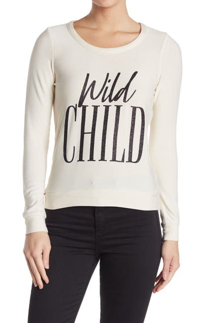 Image of Chaser Wild Child Back Cutout Long Sleeve Top