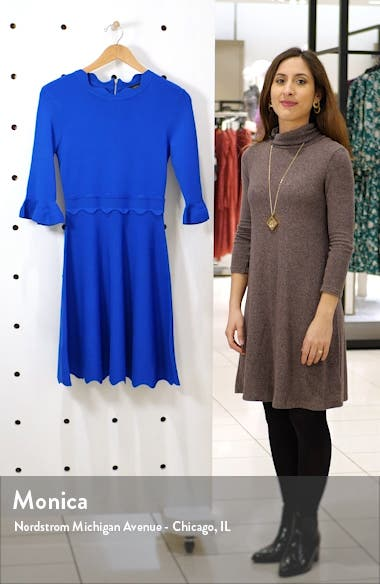Lauron Fit & Flare Sweater Dress, sales video thumbnail