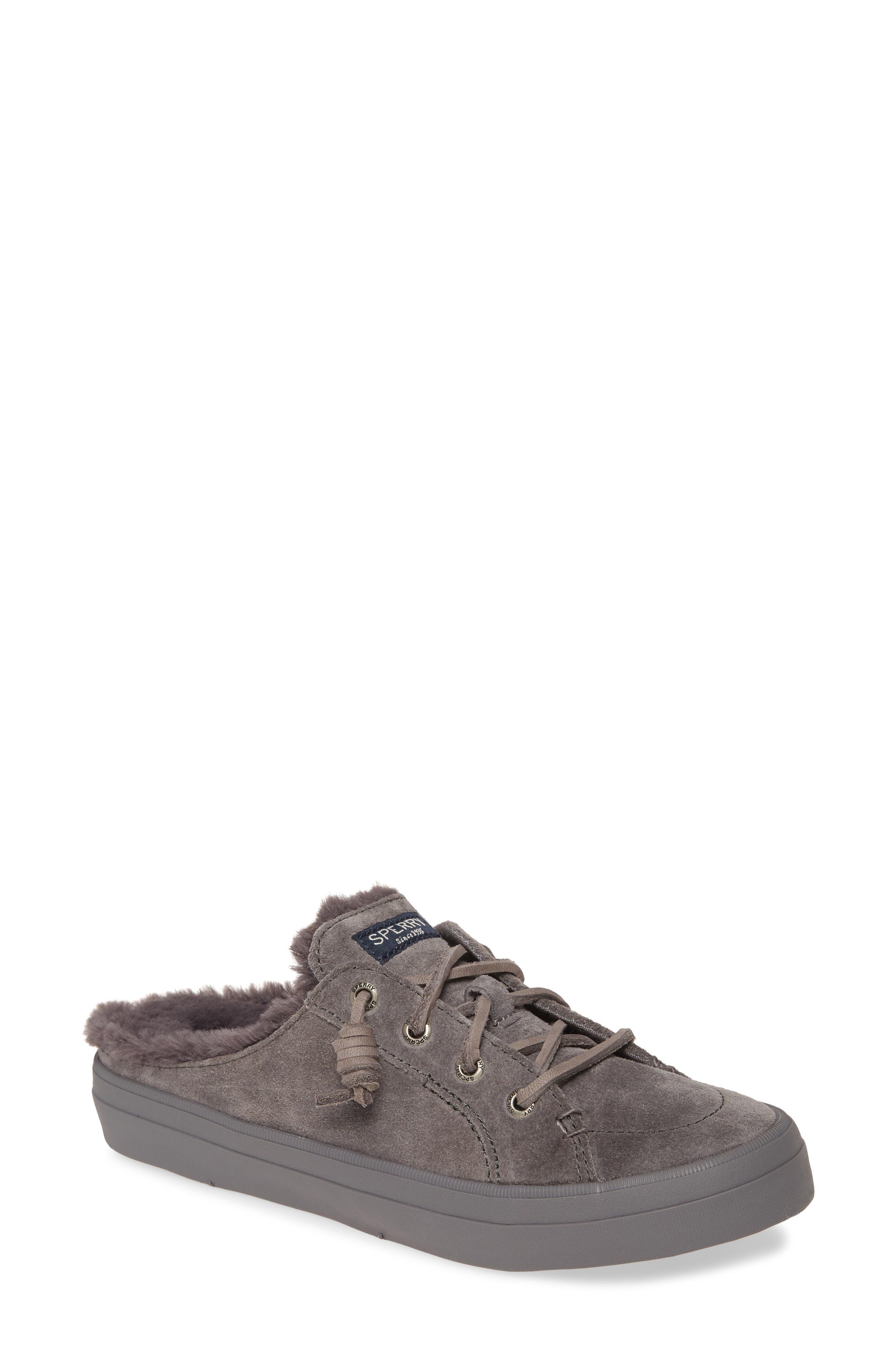 Sperry Crest Vibe Faux Fur Trim Mule Sneaker (Women)
