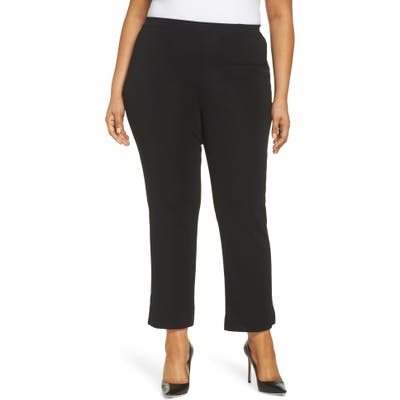 Plus Size Ming Wang Pull-On Ankle Pants, Black