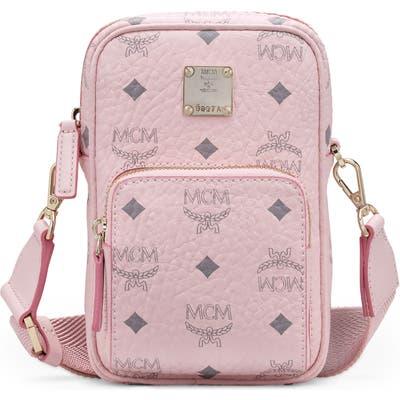 Mcm Mini Visetos Original Coated Canvas Crossbody Bag - Pink